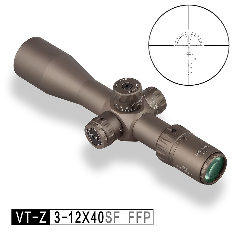 Discovery VT-Z FFP 3-12X40SF Tube 30mm First Focal Plane Riflescopes Tacticl Optics Rifle Scopes