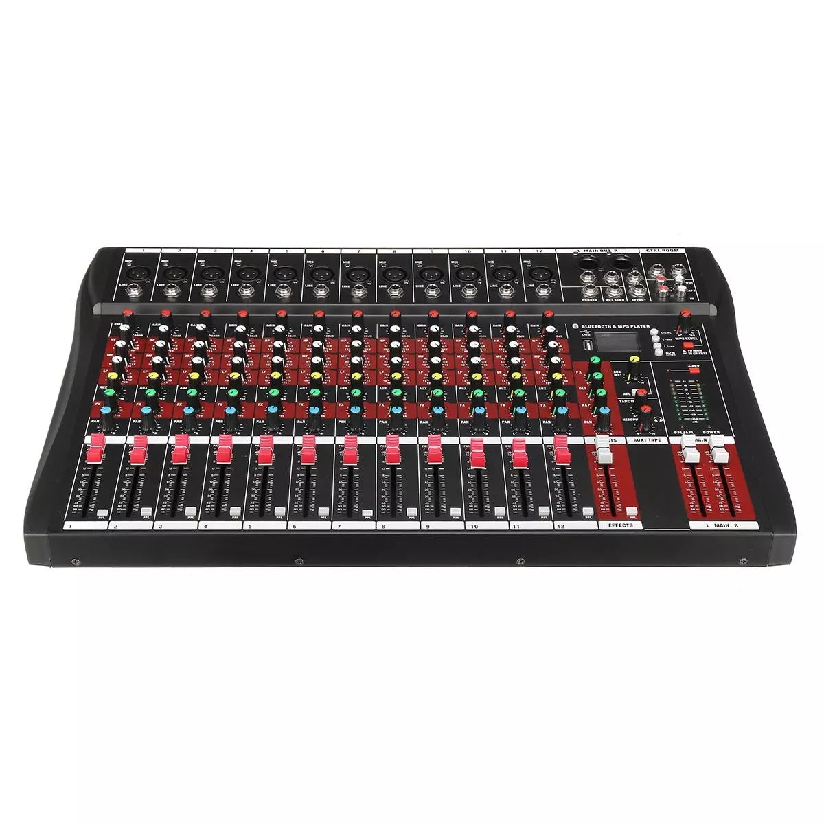 Competitive price professional audio dj mixer sound speaker table digital 12ch