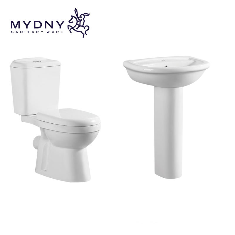 high end Luxury cheap Price water closet sanitary ware Ceramic Two Pieces public Toilet bathroom toilet set