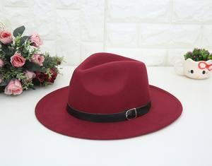 New Women Mens Unisex Panama Vintage Felt Fedora Hats Wide Brim
