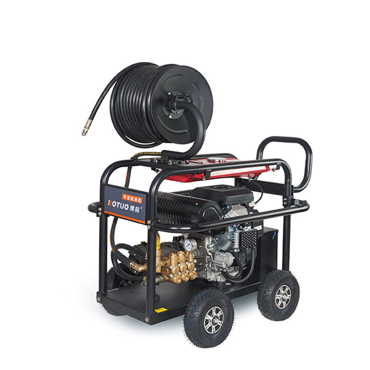 Sewer Cleaning 22hp Gasoline Engine sewer jetter 350bar
