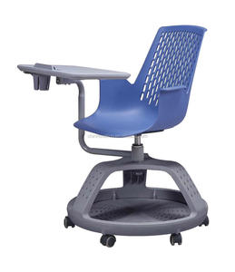 Plastic School Student Classroom Furniture Office Training Chair Node Tripod Base Chair with Personal Worksurface Writing board