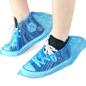 100pcs/1bag Disposable Plastic Shoe Covers Waterproof And Dustproof PE Disposal Shoe Cover