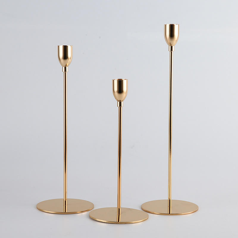 Luxury Tall Brass Candlestick Holder Stand For Wedding Hotel Home decor Metal Gold Antique candle holder