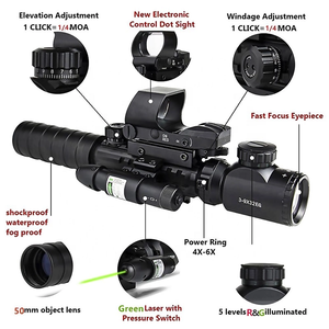 C3-9X32EG Dual illuminated Riflescopes/Compact Infrared Rifle Scope/Air Hunting Riflescope Red green dot sight