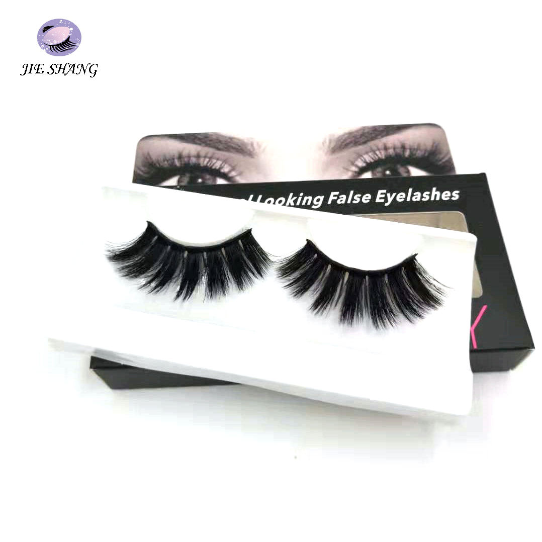 Wholesale Own Brand Private Label Custom Logo Waterproof Synthetic Hair 8d False Eyelashes Silk Lashes