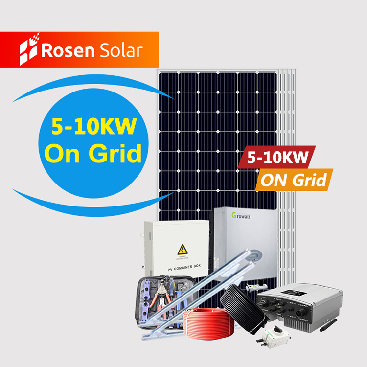 Rosen 5Kw Solar System Off Grid Hybrid Power Home