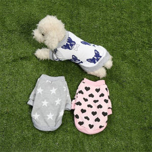 Wholesale warm coats funny pet clothes puppy dog t shirt for small dogs