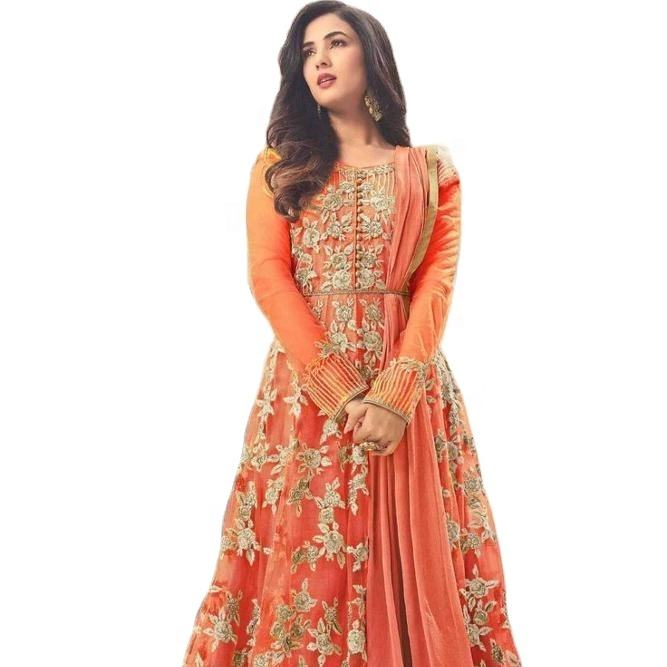 Heavy Net with Embroidery And Stone work salwar kameez