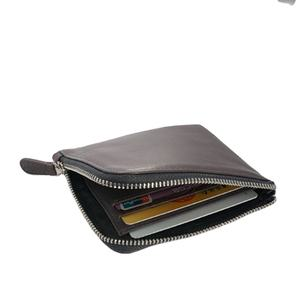 Coin purse wallet for men round zip oval squeeze sock coin purse