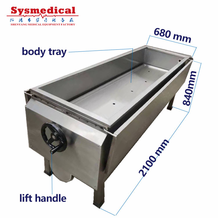 Autopsy Table Factory Supplier Corpse Body Washing Stainless Steel Autopsy Table Dead Body Postmortem Table Price