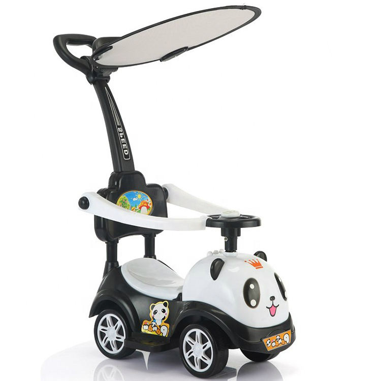 China children toys stroller walker kids baby slide car/new model colorful cheap swing car ride on toys with push bar