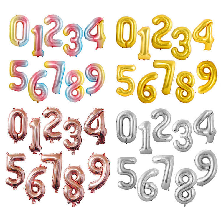 Nicro High Quality 40inch Happy Birthday Anniversary Custom OEM Letter Number Alphabet Aluminum Foil Balloon