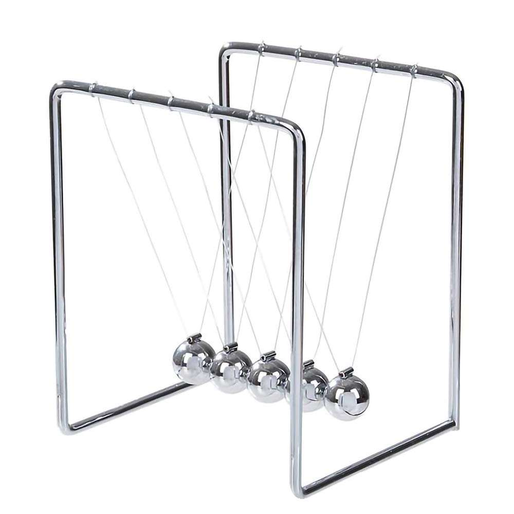 Gelsonlab HSPD-064 ArtCreativity Newtons Cradle Balance balss Office Desk Decoration Toy Fun Educational Science Learning Aid