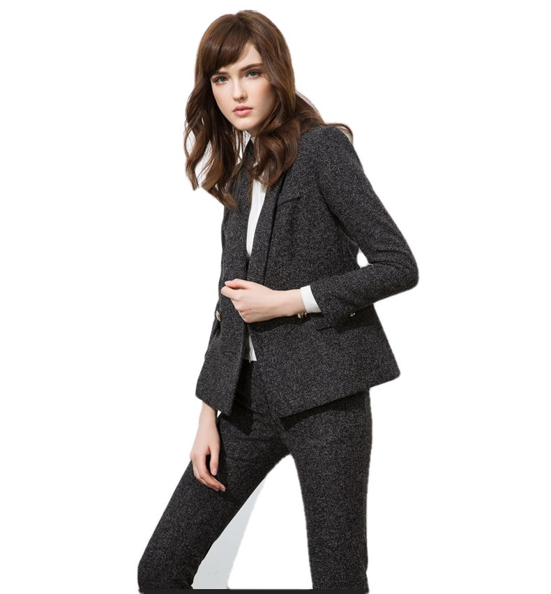 2020 Lady's slim fit non-iron gray tuxedo suit and pant