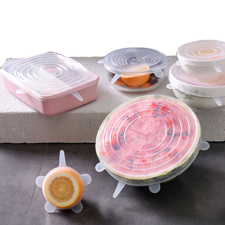 High Quality Food Grade Reusable Silicone Stretch Food Lids For Bowl
