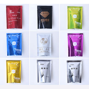 Custom Printed Mini aluminum foil cosmetic liquid pouch Heat seal bag for sachet packing