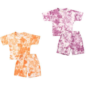 2020 Baby Boy Tie-dye Printed Clothes Sets 1-5Y Summer Short Sleeve Print T Shirts Tops+Shorts Pants Kids Girls 2Pcs Suits