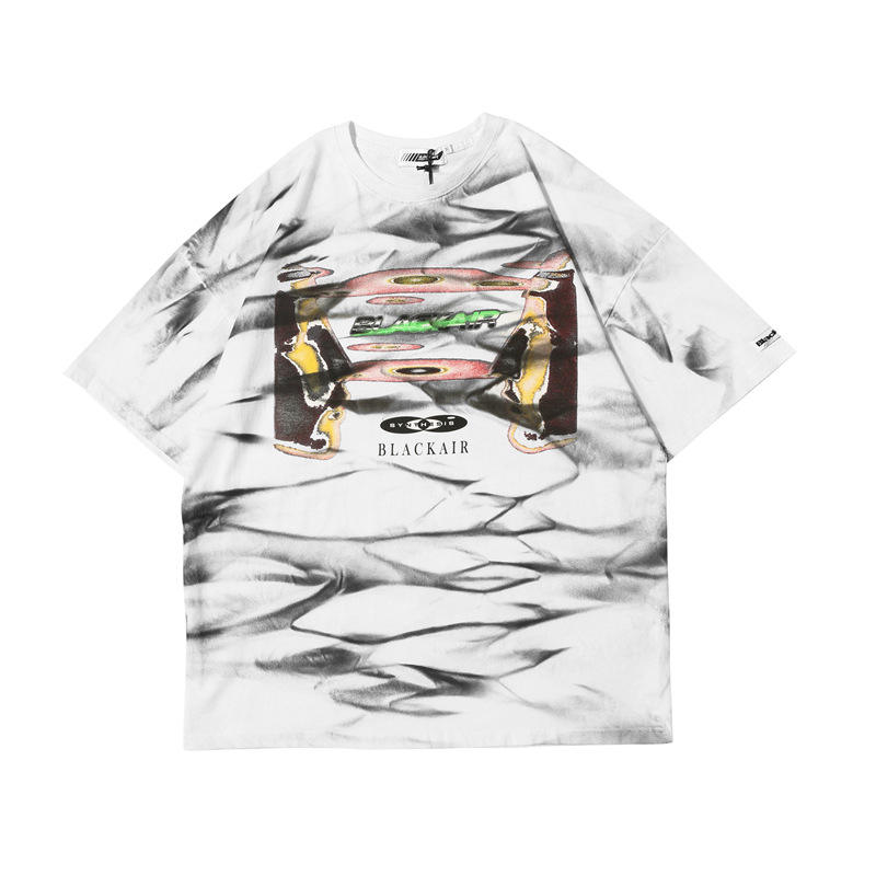High quality over sized cotton plain t-shirts printing hip hop unisex with o-collar