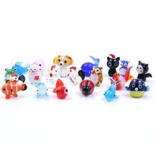 High Quality Mixed Design Miniature Small Murano Glass Animal Figurine Wholesale