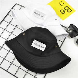 Hot Sals Amazon Sun Fishing Custom White Black Blank Embroidery Cotton Bucket Hat