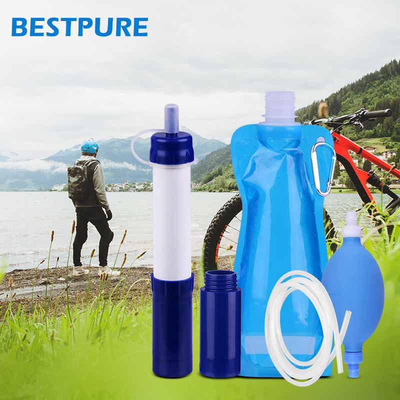 Personal mini outdoor portable water filter for camping hiking travel