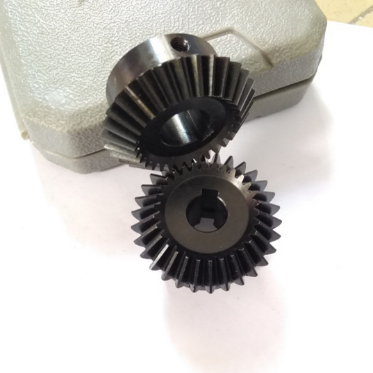 Customized small quantity M2 Z26 small bevel gear set with 52HRC and black oxide for 1:1 speed ratio gear box
