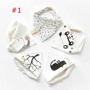 Infants & Toddlers 2layer cotton bibs Age Group and OEM Service Supply Type Cotton baby bandana bib