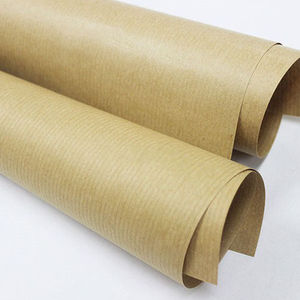 La pulpa reciclada estilo Use 80gsm marrón Kraft rollo de papel/regalo de papel de Kraft