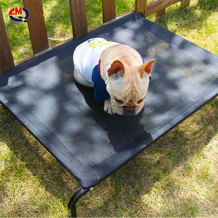 limeiqi outdoor washable wrought iron metal frame mesh raised dog bed for pet