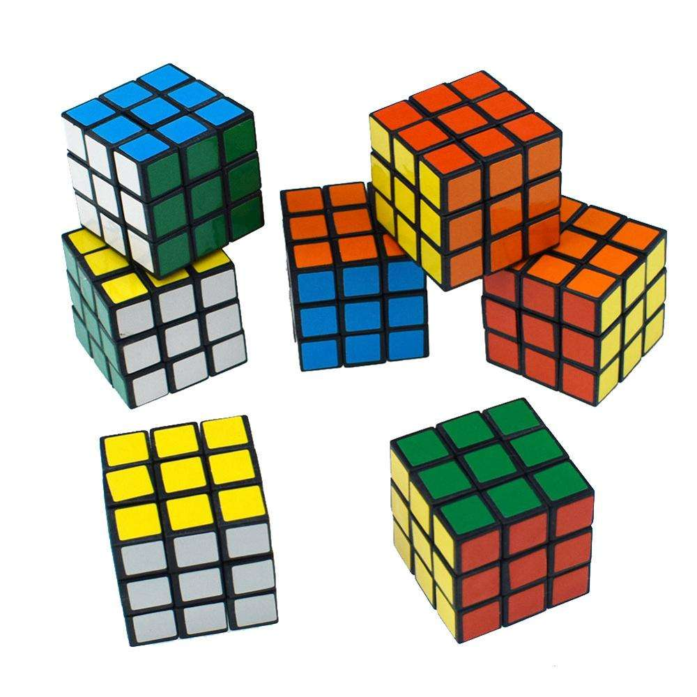 Hot selling kids toy direct sales third order magic cube promotional multi color magic cube