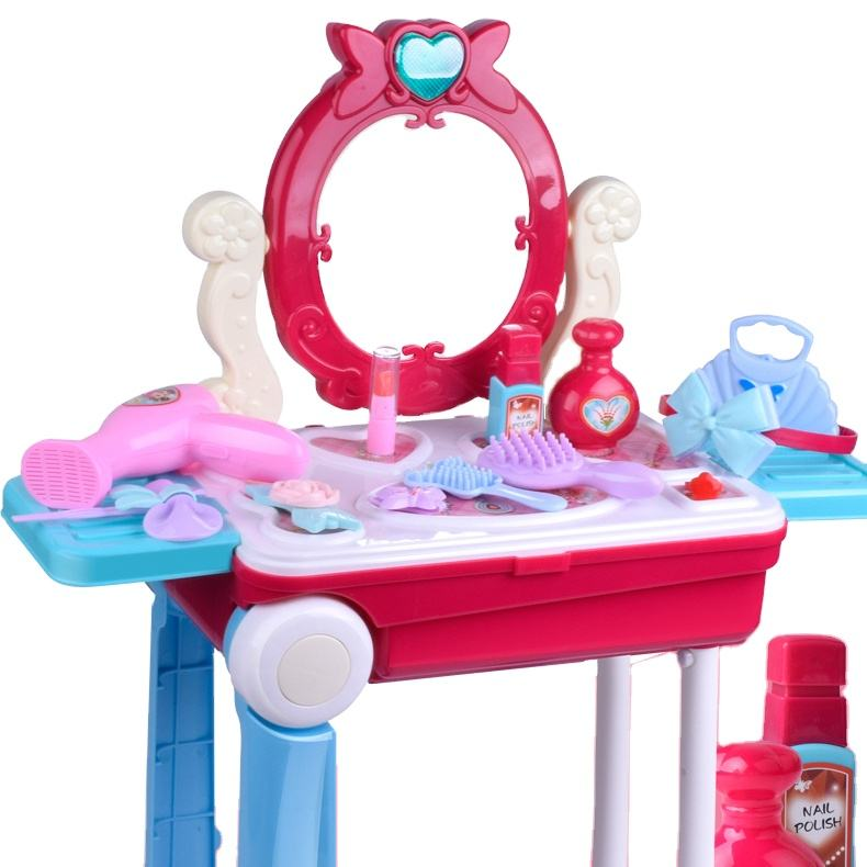 Factory Hot Sell Fashion Beauty Girls Pretend Play Make Up Doll Toys Play Dressing Sets for Girls