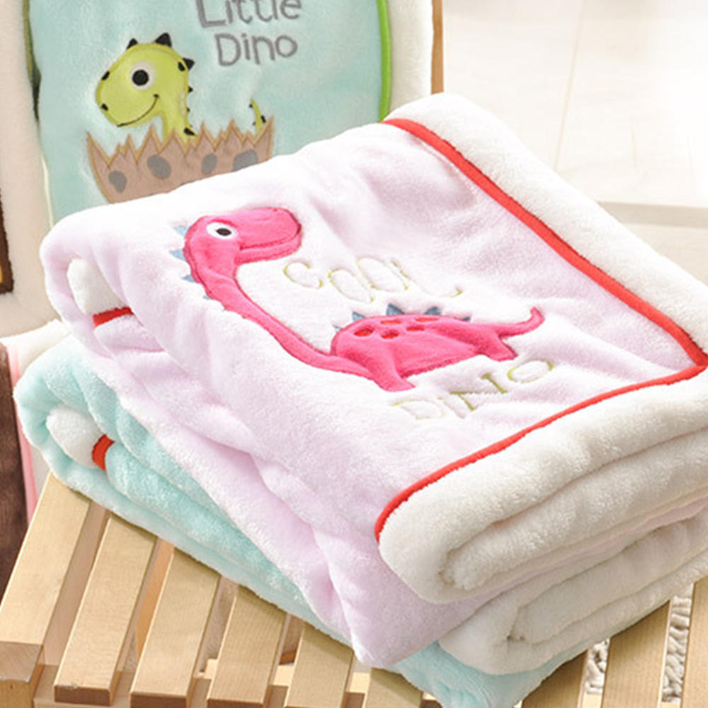 Multi-function cute baby flannel blanket swaddle newborn cartoon design baby blanket