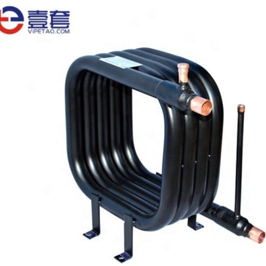 coil evaporator/spiral coil condenser/water cooler parts and stainless steel tube copper fin