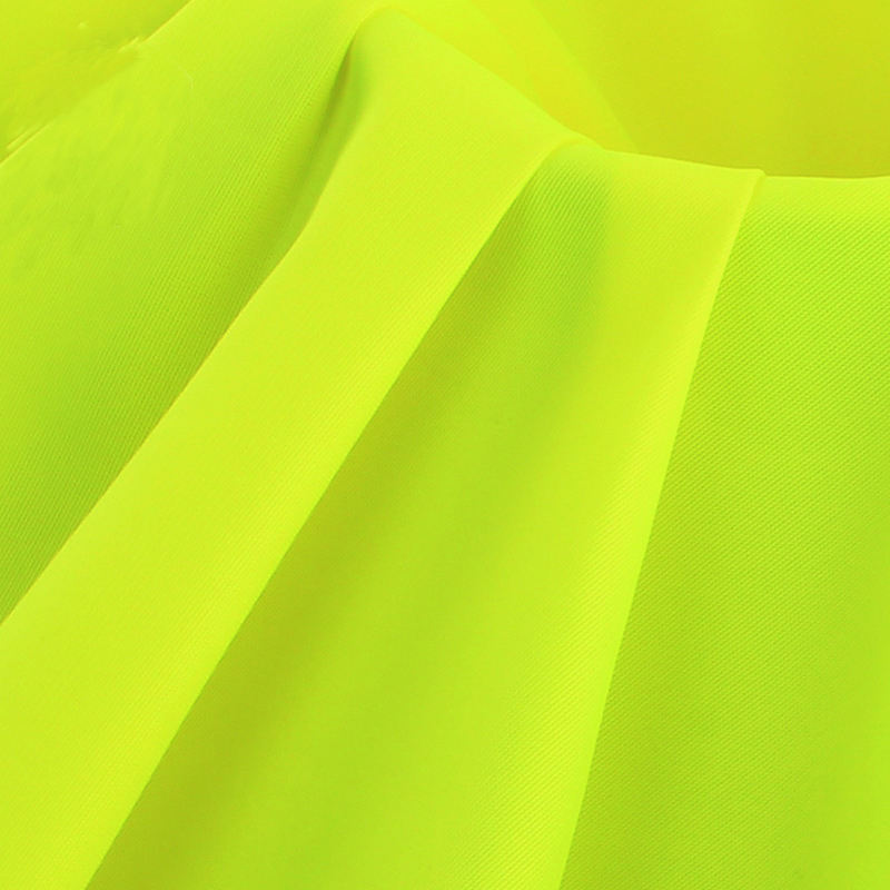 polyester High Visibility Fluorescent Fabric Yellow Orange Fabric Workwear Fabric
