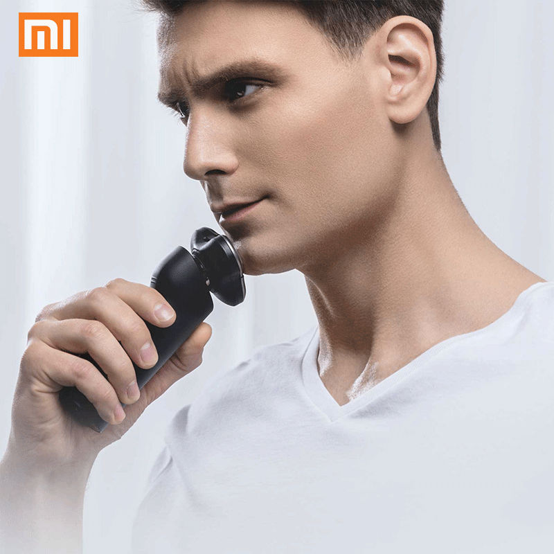 Xiaomi Mijia Rechargeable 3D Head Dry Wet Shaving Machine Washable Dual Blade Waterproof Electric Shaver Razor For Men