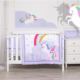 Crib Bedding Rainbow Unicorn Theme Cot Set Crib Bedding Organic Baby Crib Bedding Set For Girl