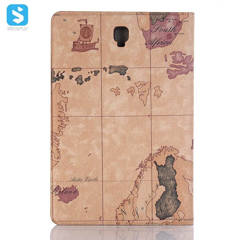 Map design flip leather case for SAMSUNG Tab 10.5 , for samsung galaxy Tablet S4 T830 T835 stand leather case