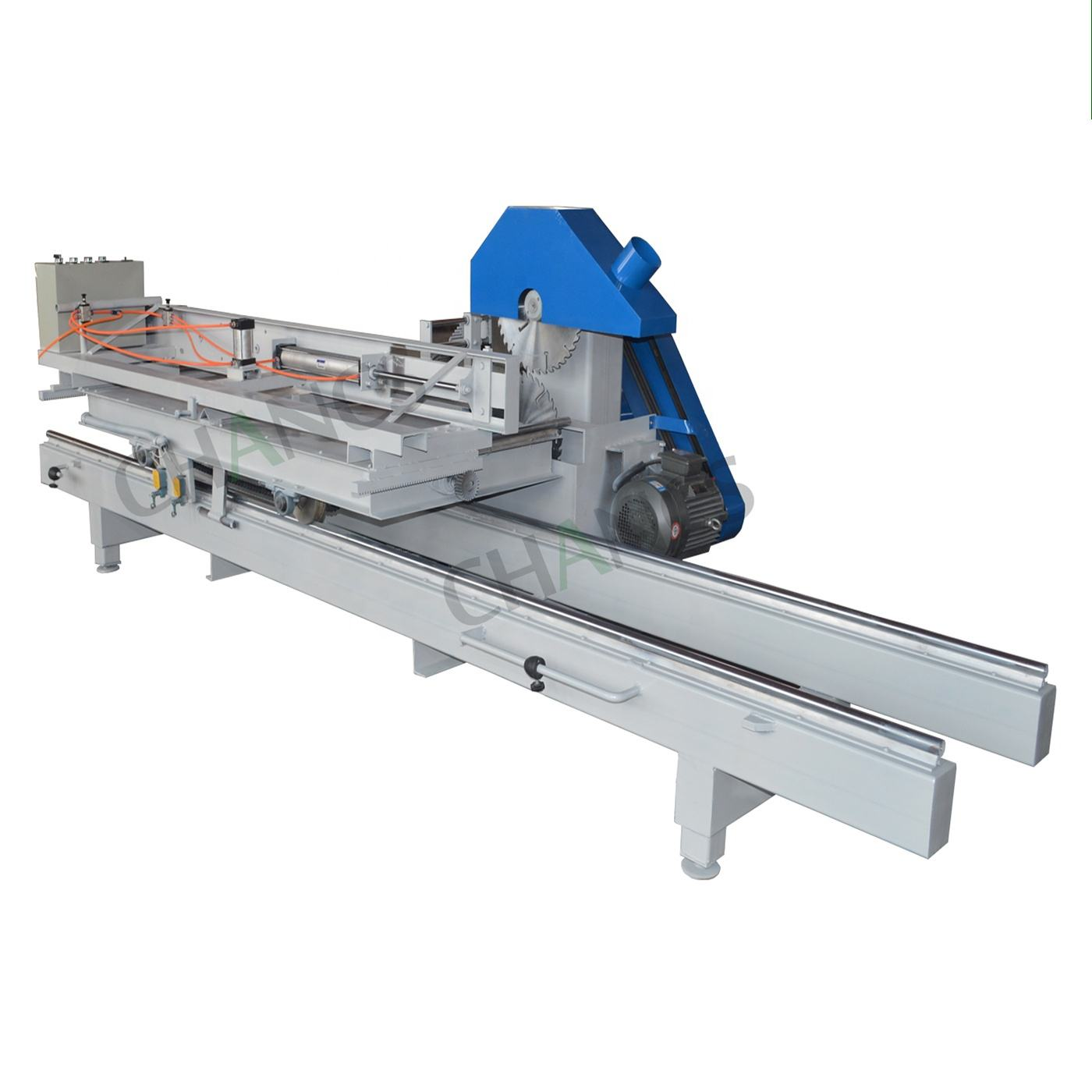 CHANCSMAC automatic electric round log table sliding cutting machine wood saw mill