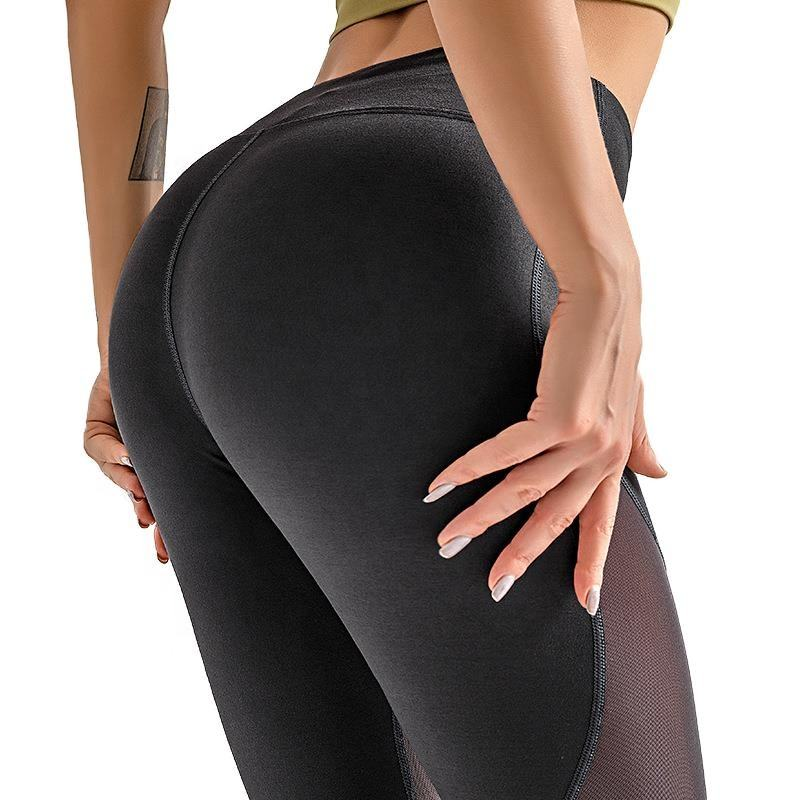 Feet Stepping Mesh Slimming Slim Fit Womens Athletic Leggings