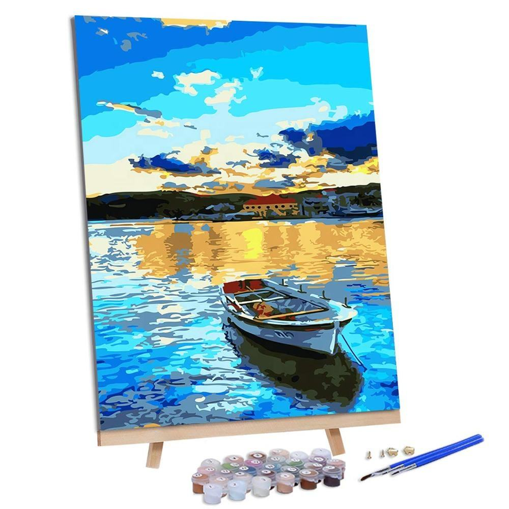 diy oil painting by numbers kits for Adults kids T7