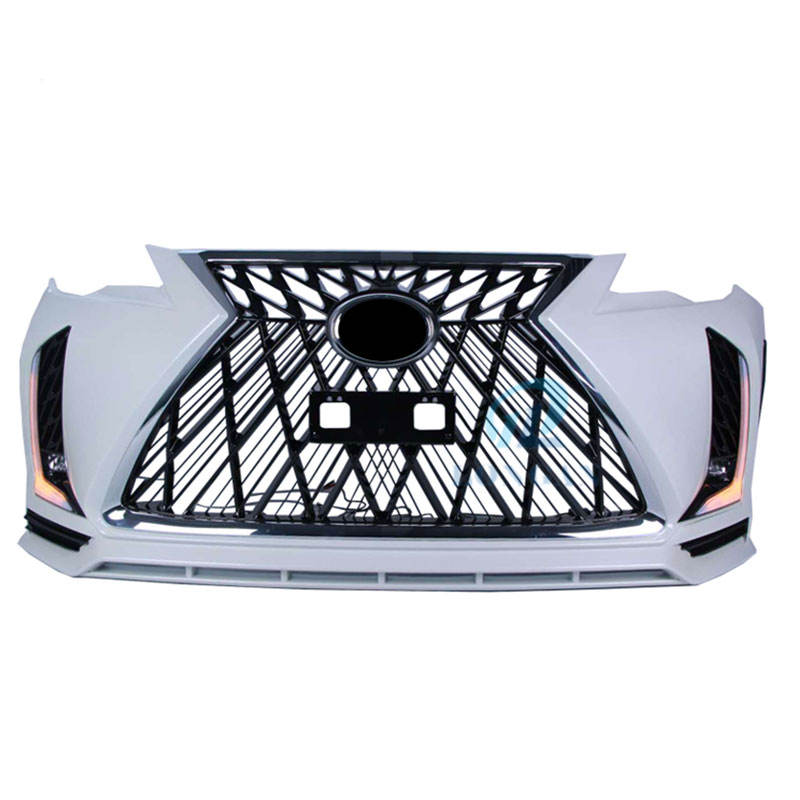 With Led Light New Design Facelift Front Bumper Grille Body Kit for Toyota Fortuner 2016-2019 Upgrade Change To Lexus