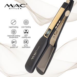 Professional 450 degrees hair straightener tourmaline ceramic coat flat iron shiny hair straightener beauty salon tool Wholesale