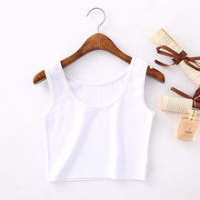 Summer 2020 Slim Sleeveless Camisole Women Short Tank Tops Women's Solid Bodycon Crop Tops Vest  Tops