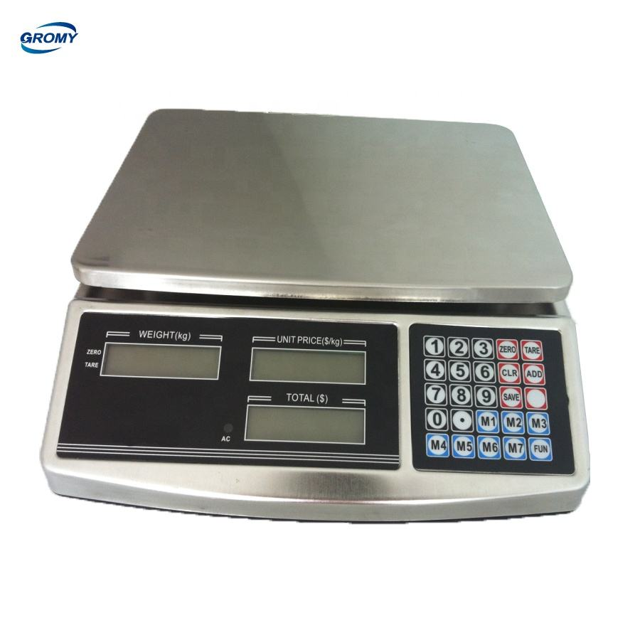 Digital Table Scale Price Computing Scale Stainless Steel CAS 40kg