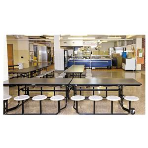 Dongguan Sanchuang Best School Restaurant furniture Fiberglass Canteen Table and Chair Set for Sale