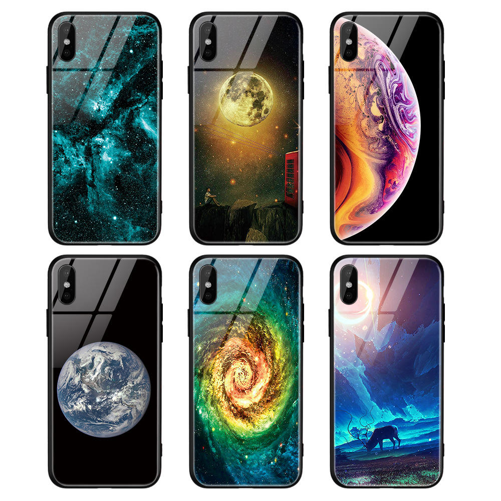 2020 New Fashion Tempered Glass material Sublimation cell phone case