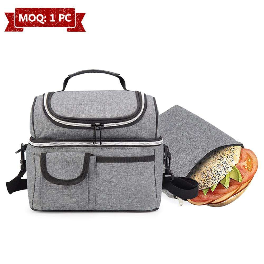 OEM/ODM Customized Waterproof Aluminium Foil Tote Cooler Bag Leakproof Insulated Cooler Bag Lunch Bag For Office Beach Hiking