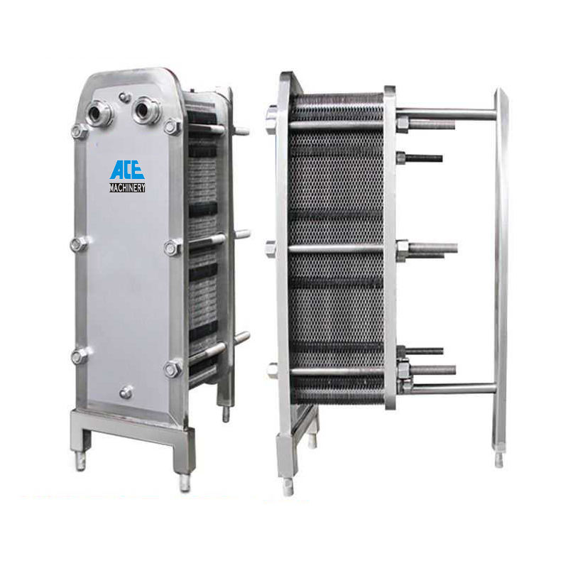 Ace Factory Price High Quality Sanitary Stainless Steel Plate Heat Exchanger With Heat Exchanger Plate