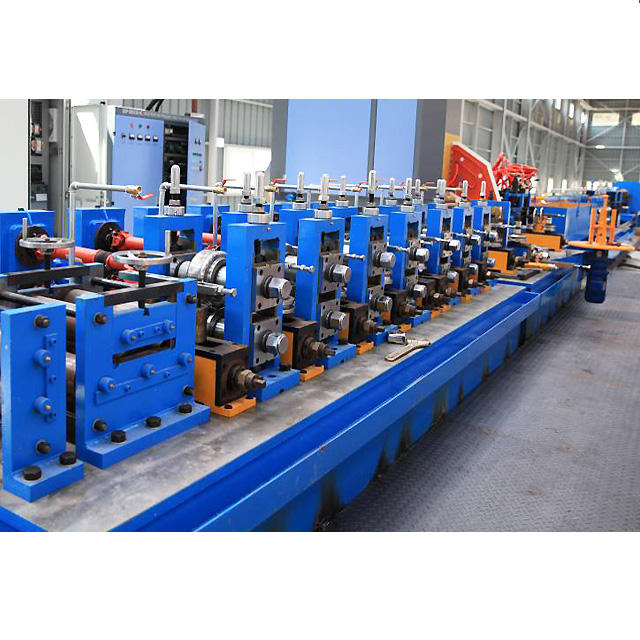 Auto HF welding steel square tube making machine emt gi pipe mill product line